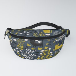Cats and Flowers Pattern Fanny Pack