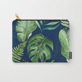 Tropical Leaves Banana Palm Tree Carry-All Pouch