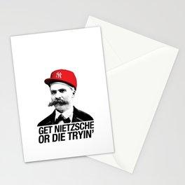 Get nietzsche or die tryin' Stationery Cards