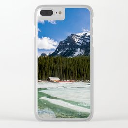 Canoeing in the Mountains Clear iPhone Case