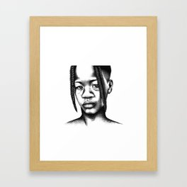 Little boy from Angola Framed Art Print