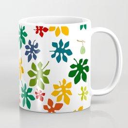 Colorful Fig Tree Leaves Coffee Mug
