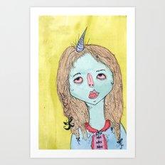 MI CUERNO Art Print