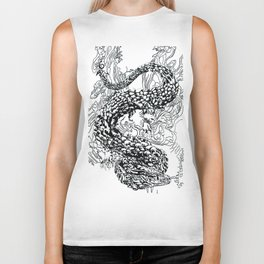 A Dragon from your Subconscious Mind Biker Tank