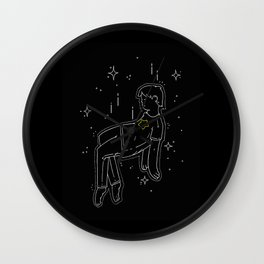 float into oblivion Wall Clock