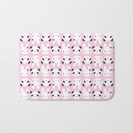 Super Cute Kawaii Bunny and Panda (Pink) Bath Mat