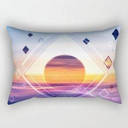 Abstract Geometric Collage II Rectangular Pillow