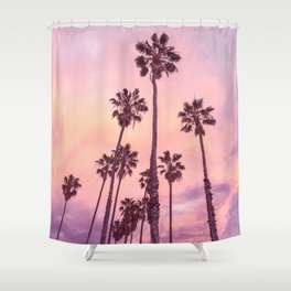 Palms to Pink World Shower Curtain