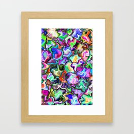 unusual abstract art design background Framed Art Print