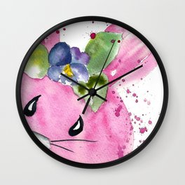 Easter Bunny Peek A Boo Wall Clock