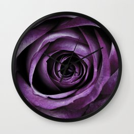 Purple Rose Decorative Flower Wall Clock
