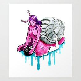 Snail Squish Art Print