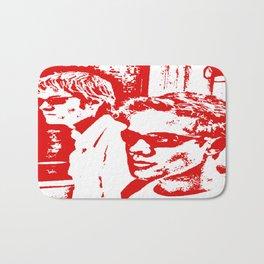 RD Red & White Bath Mat