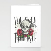 yolo Stationery Cards featuring YOLO by Danielle Beach