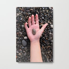 HAND ROCK Metal Print