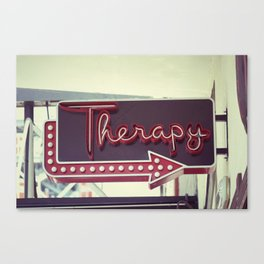 Therapy Canvas Print