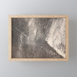 Sandpaper Attrition Rubbing Texture Framed Mini Art Print