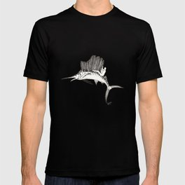Surfing the fish T-shirt