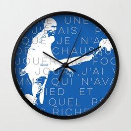 Zinedine Zidane Wall Clock