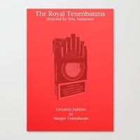 tenenbaum Canvas Prints featuring Margot Tenenbaum by Italyprayer