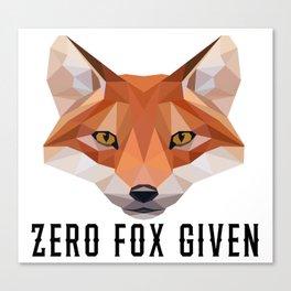 Zero Fox Given (low poly) Canvas Print