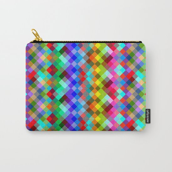 Multicolored pixels Carry-All Pouch
