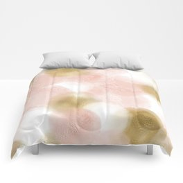 Rose Gold and Gold Blush Comforters