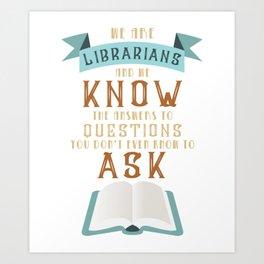 Librarian Book Lover Reading Nerd Art Print
