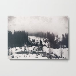 winter photo #winter #blackandwhite #photography Metal Print