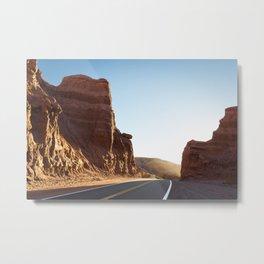 Road through of Canyons Metal Print