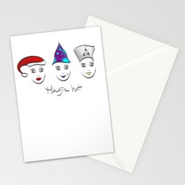 Magic hat of Christmas Stationery Cards
