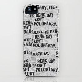 Voluntary iPhone Case