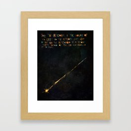 The Meteorite is the Source of the Light Framed Art Print