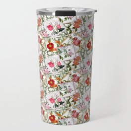 Vintage flowers on postage stamps Travel Mug