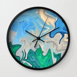 Ocean Meeting Land Marble Wall Clock