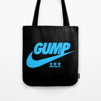forrest gump Tote Bags featuring Gump- JustDoIt IV by IIIIHiveIIII