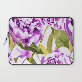 Peonies on a white background - #Society6 #buyart Laptop Sleeve