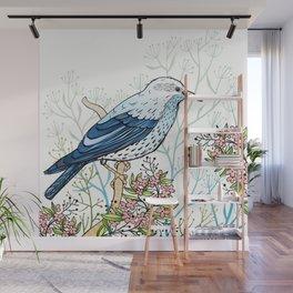 Blue Bird Wall Mural