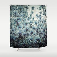 Magnolia Blues Shower Curtain
