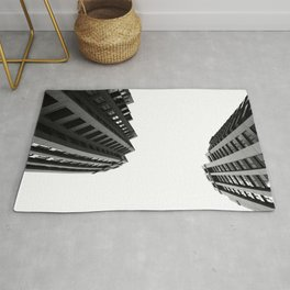 Architecture Minimalism Black and White Photography Rug