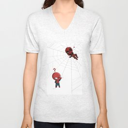 How the hell did you get up there? Unisex V-Neck