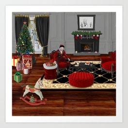 Relax Santa Art Print