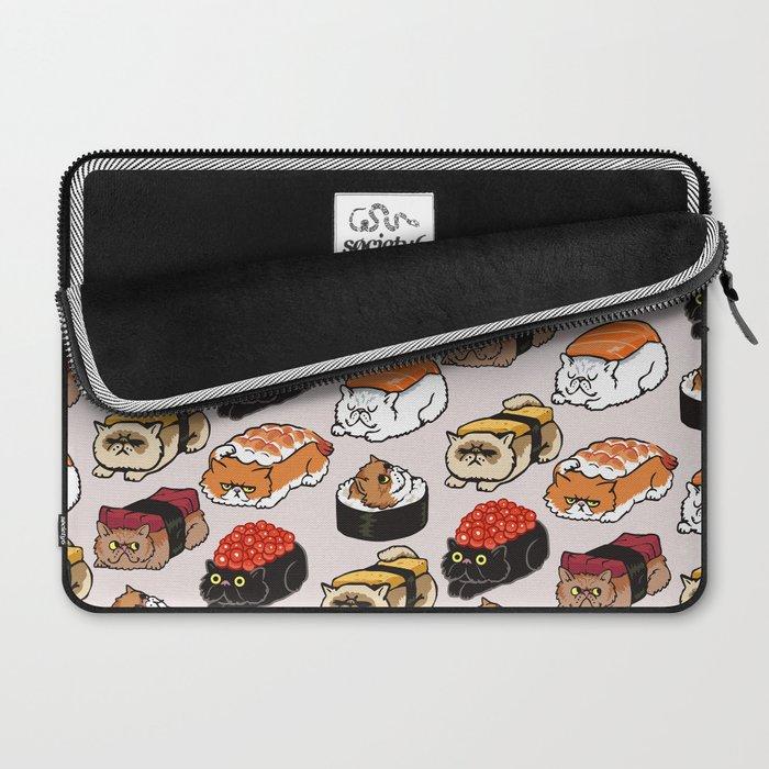 Sushi Persian Cat Laptop Sleeve
