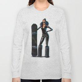 Snowboard babe - All black Long Sleeve T-shirt