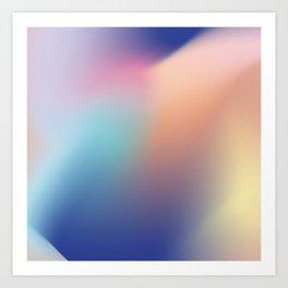 Gradient flow Art Print