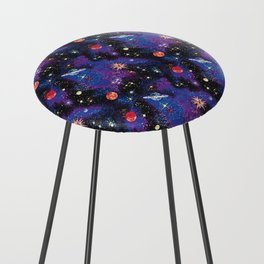 Out of This World Carpet Pattern Counter Stool