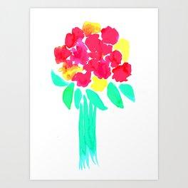Watercolor Bouquet Art Print