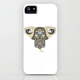 Hamsa Elephant Ying Yang Tree A403 iPhone Case