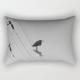 Photography: The water reflection of lonely bird. Rectangular Pillow
