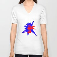 patriotic V-neck T-shirts featuring Patriotic Sky by Christy Leigh
